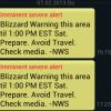 Winter Storm Good Test for Mobile Phone Emergency Alert System