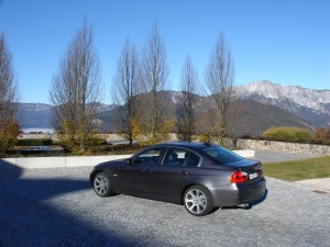 The author's new BMW 330xi at the InterContinental Hotel and Resort in Berchtesgaden