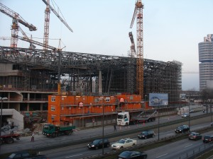 The BMW Welt under construction in November 2005