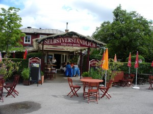 A Beisl, or small restaurant, at the Old Danube (Alte Donau)