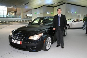 The first BMW Welt delivery customer, Jonathan Spira