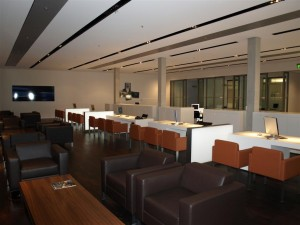 Reception area in the BMW Welt's Premium Lounge, reserved for those collecting new BMWs only