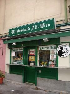 A typical Würstelstand in Vienna