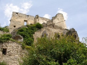 The ruins of the castle where Richard the Lionhearted was held in Dürnstein