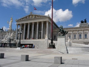 The Parlament (Parliament) on the Ringstraße