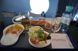 An equally tasty meal was served on the return flight to London