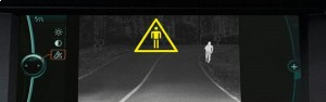 BMW Night Vision catches pedestrians.