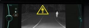 BMW Night Vision catches pedestrians.