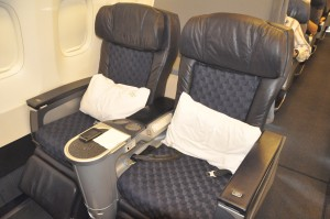 First-class seating on American's 767-200 aircraft