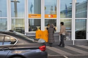Munich curbside checkin Lufthansa