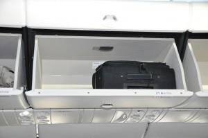 787, overhead bin, luggage
