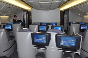 A Continental BusinessFirst cabin