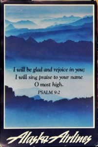 Alaska Airlines Prayer Card