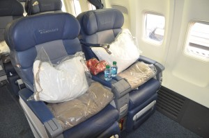 Delta BusinessElite seating on the 757