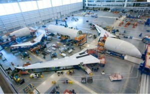 Boeing 787 during assembly
