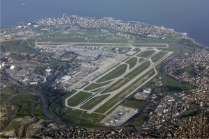Istanbul's Atatürk Airport from the air