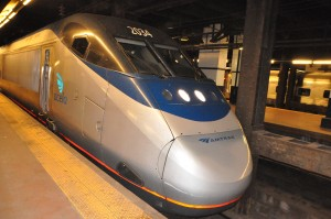 Amtrak Acela train at 30th Street Station, Phila.