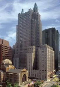 Park Aveune view of Waldorf Astoria New York