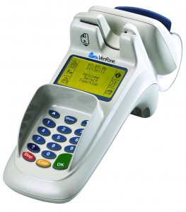 An EMV-compatible credit card terminal