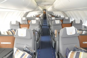 Lufthansa Boeing 747-8 business class on upper deck