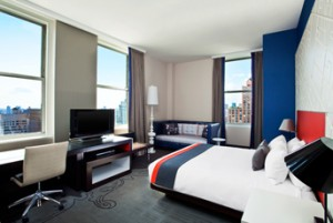 Fabulous room at W Hotel Union Square, NYC