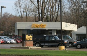 Hertz car rental office in Livonia, Michigan