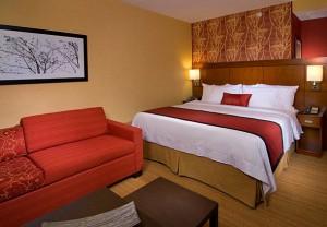 King guest room at Courtyard Santa Barbara Goleta