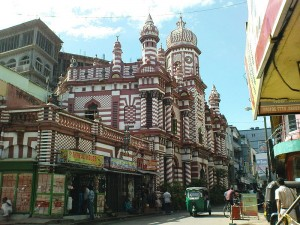 Muslim Mosque in Colombo, Sri Lanka