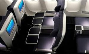 World Traveler Plus premium economy cabin