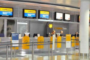 Lufthansa Ticket Counter at Munich Airport