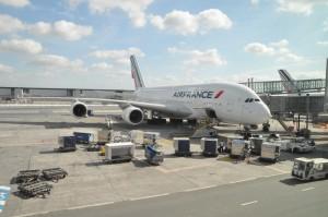 An Air France A380 at CDG
