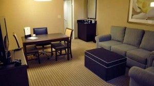 Kings suite at Doubletree Suites Salt Lake City