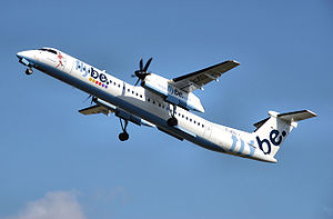 Bombardier Q400 operated by UK-based Flybe