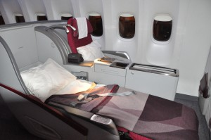 Qatar Airways' business-class seating