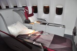 Qatar Airways' business-class seating