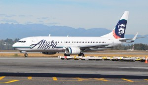 An Alaska Airlines 737 in Seattle