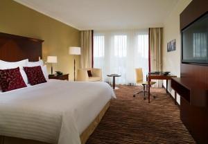 Deluxe guest room at Berlin Marriott