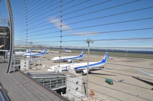 View from Haneda's Sky Deck, Terminal 2