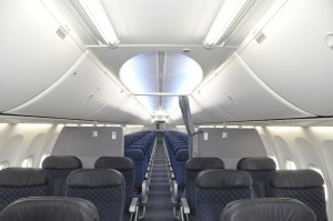 Interior of American Airlines 737-800