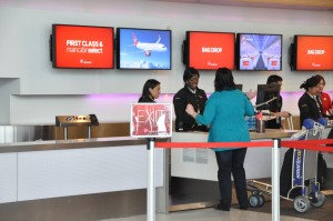 Virgin America check-in at SFO