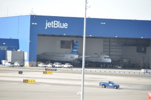 JetBlue's hangar at JFK in New York