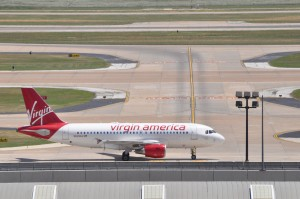 A Virgin America aircraft