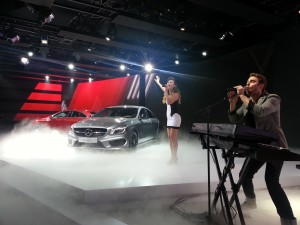 Mercedes-Benz CLA-Class at a preview in Detroit