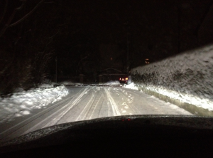 Road conditions were icy in Germany on Monday