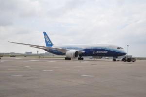 Boeing Dreamliner ZA003 on tour at DFW