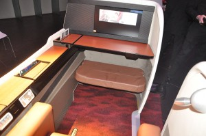 Storage space is abundant in the JAL Suite