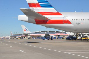 American's new livery on the 777-300ER