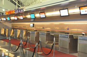 AA check-in counters at JFK