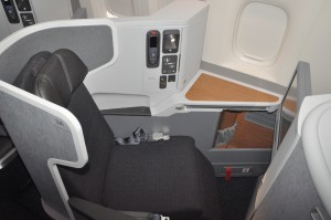 Business class in American's new 777-300ER