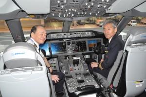 Cockpit of an ANA Dreamliner